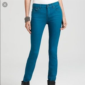 Free People | Blue Green Skinny Jeans size 25